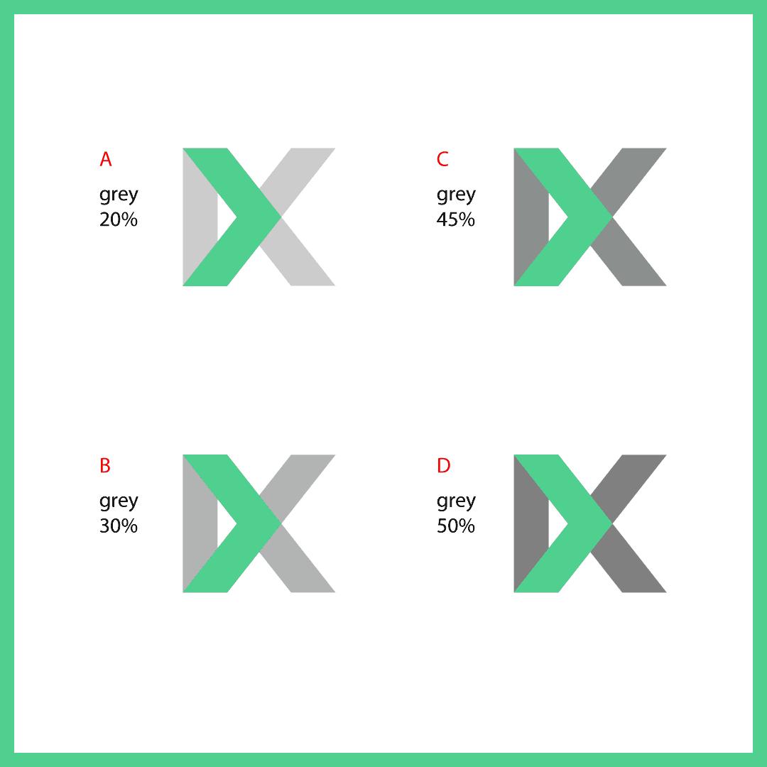 kx logo color branding selection
