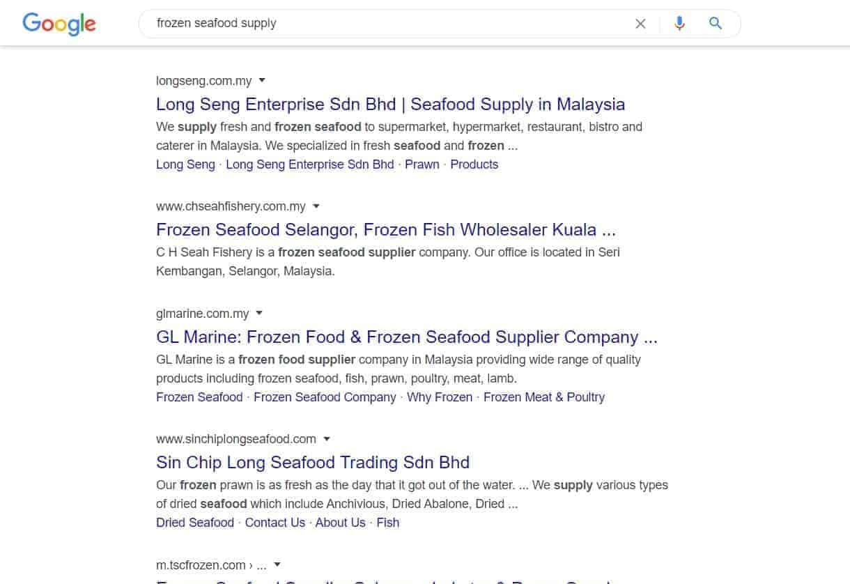 frozen seafood supply sep ranking