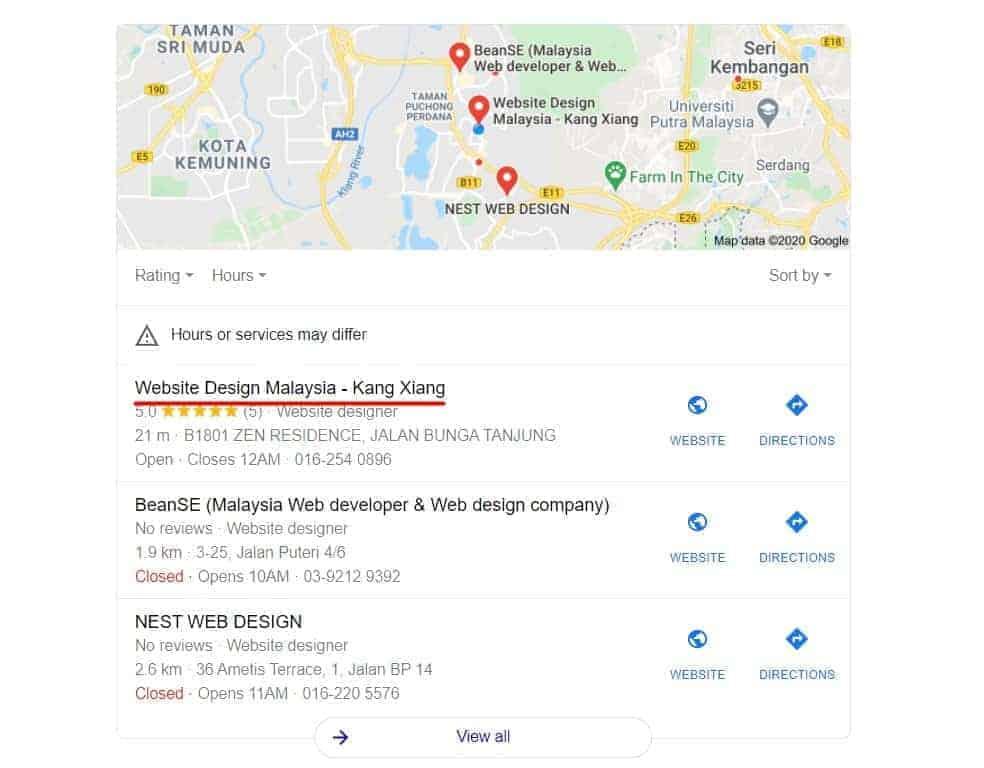 website design search 3