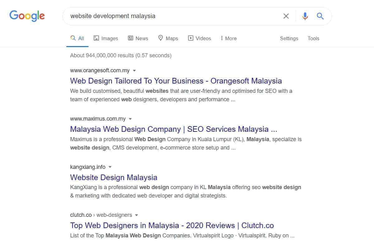 website development malaysia