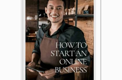 how to start an online business ebook cover